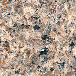 Colorful Brown Quartz Artificial Stone
